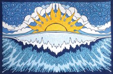 Sun Wave Indian Tapestry