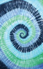 Blue Spiral Tie Dye Tapestry