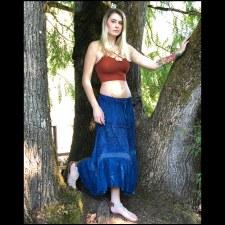Pigment Rayon Skirt Blue