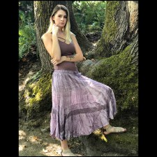 Pigment Rayon Skirt Lavender