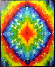 Tie Dye Fleece Throw