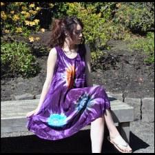 Tie Dye Summer Dress Purple