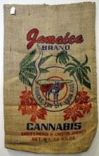 "22"" x 36"" Jamaica Brand Cannabis Burlap Bag"