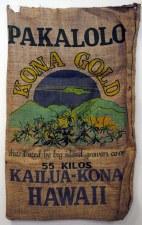 """22"""" x 36"""" Pakalolo Kona Gold Hawaii Burlap Bag"""
