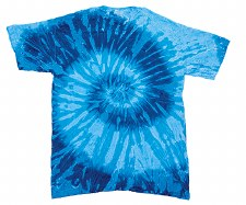 Tie Dye XL T-Shirt Blue Spiral