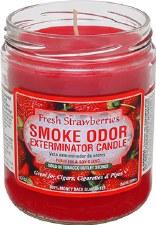 13oz Smoke Exterminator Candle Fresh Strawberries