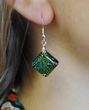 Dichroic Glass Earings