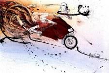 Ralph Steadman Hunter Thompson Ducati Poster