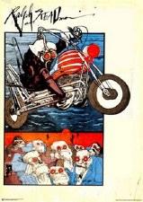 Ralph Steadman Motorcycle Poster