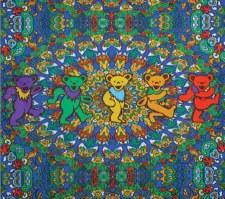 Grateful Dead Dancing Bear Fleece Blanket