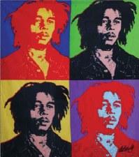 Bob Marley Fleece Warhol Blanket