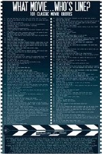 """24"""" x 36"""" What Movie .. Who's Line Rolled Poster"""