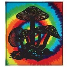 Tie Dye Mushrooms Tapestry