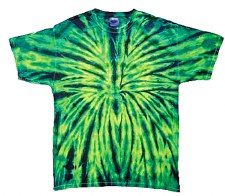 Tie Dye Medium T-Shirt Green Spider