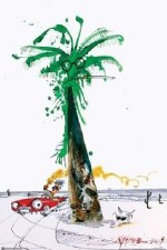 Hunter Driving by Palm Tree Poster