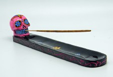 Sugar Skull Pink Day of the Dead Incense Burner