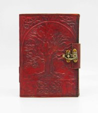 Large Tree of Life Leather Writing Journal