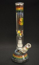 Rasta on Rasta Double Perc Water Pipe