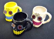 Day of the Dead Sugar Skull Drinking Mugs