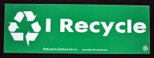 I recycle Large Sticker