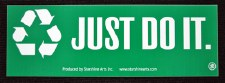 Just Do It Recycling Sticker