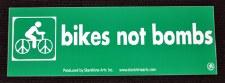 Bikes not Bombs Large Sticker