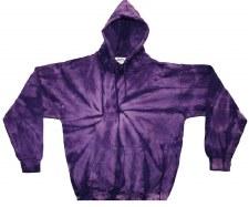 Tie Dye Pullover Hoodie Purple Spider Medium