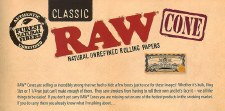 Raw 1 1/4 Cone Rolling Paper 6 pack