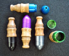 Bullet Metal Pipe with Wood Mouth Piece