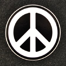 "3"" Peace Sign Sticker"