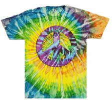 Tie Dye Peace Print T-Shirt Medium