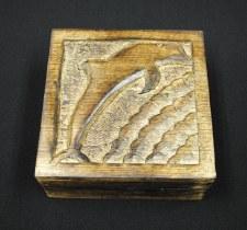 "5x5"" Mango Wood Dolphin Box"