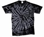 Tie Dye Medium T-Shirt Black Spider