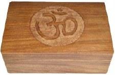 Om Symbol Carved Box