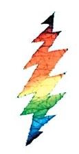 Batik Lightning Bolt Sticker