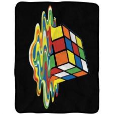 Rubik's Melt Fleece Blanket