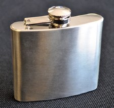 5oz Matte Finished Stainless Steel Flask