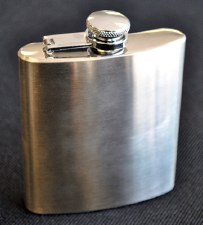6oz Matte Finished Stainless Steel Flask