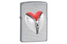 Zipper Heart Zippo Lighter