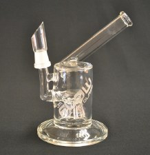 """6"""" Tall Flow Sci Glass Side Car Oil Rig"""