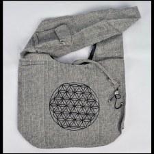 Gray Print Bag Flower Knot