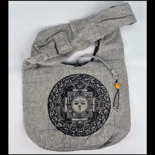 Gray Print Bag Sun Mandala