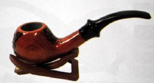 Wood Pipe with Design