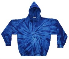 Tie Dye Medium Pullover Royal Blue Hoodie