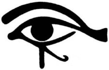 Egyptian Eye Black Sticker