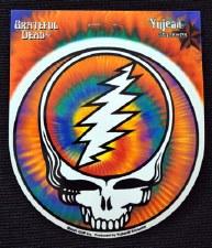 """4.75"""" Round Tie Dye Grateful Dead Steal Your Face Sticker"""
