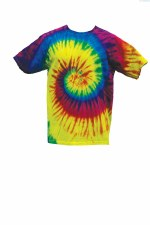 Tie Dye Medium T-Shirt Reactive Rainbow