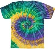 Tie Dye T-Shirt Mardi Gras Large