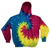 Tie Dye Hoody Rainbow Med