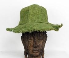 Green Hemp Hat with Brim